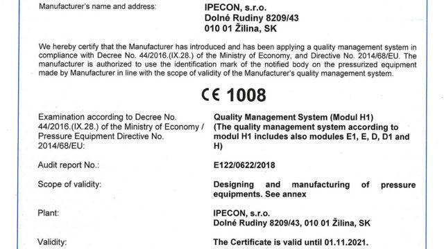 Module H - Certificate